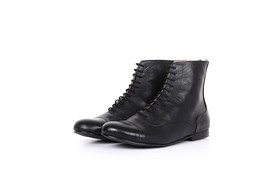 Perfect Wear Black Balmoral,Cap Toe Premium Leather Women High Ankle Boots - $149.99+