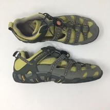 Merrell Women Sz 9 Waterpro Flow Grey/Lime Sneakers Vibram All Terrain S... - $37.13
