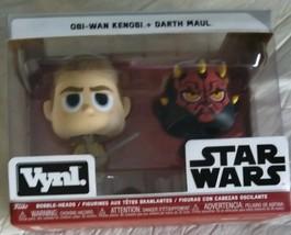 Funko VYNL: Star Wars - Darth Maul & OBI Wan Kenobi Collectible bobble-h... - $6.67