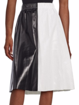 NWT Proenza Schouler Colorblock Perforated Leather Skirt 6 MSRP: $2,950 - £533.02 GBP
