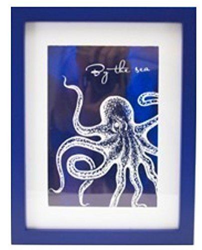 Framed Sealife Print, By the Sea (Octopus)