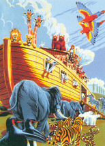 """Junior Small Paint By Number Kit 8.75""""X11.75""""-Noah's Ark - $9.43"""