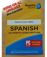 Rosetta Stone 24 Month Online Subscription Code No CD Works For All Lang... - $39.59