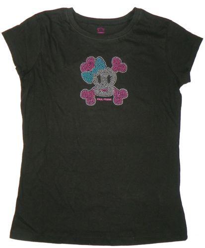 XL 12/14 Paul Frank Tee Shirt Girl's Julius Monkey Bling Face T-Shirt NEW