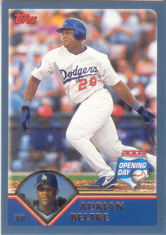 Adrian Beltre ~ 2003 Topps Opening Day #158 ~ Dodgers