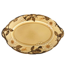 Franciscan Cafe Royal Serving Platter 13 Inch Vintage Embossed Flowers B... - $24.70