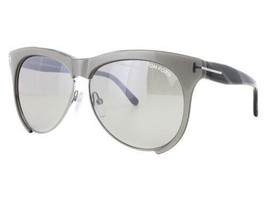 NEW Tom Ford FT0365-38G TF 365 Leona Shiny Grey Grey Mirror Sunglasses (... - $101.84
