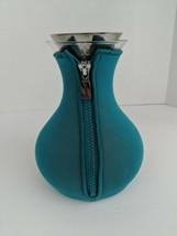 Eva Solo Tea Bottle Strainer Glass Teal Neoprene Cover - $39.59