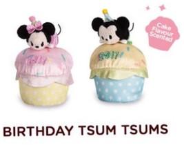 "Disney Store Birthday Minnie And Mickey 2017 Tsum Tsum Plush Mini 3 ½"" Scented - $20.58"