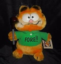 "9 "" Vintage R Dakin Bambino Garfield Fore Golf Club Peluche Animale W/ Tag - $17.23"