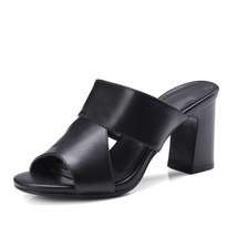 Shoes Heeled Women Lady Leather Genuine High Leisure Casual FEDONAS Sanda Woman xfXOpqp