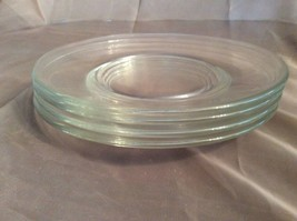 Libbey Crisa Moderno Glass Plates Set of 6 Salad/Dessert 7-1/2 Inch Clea... - $16.82