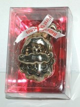 Roman Inc 36772 Babys First Christmas Santa Head Jingle Ornament Siver Color image 1