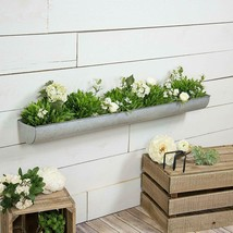 "36"" Metal Wall Planter Decorative Natural Metal Tray Style Wall Mount Pl... - $52.95"
