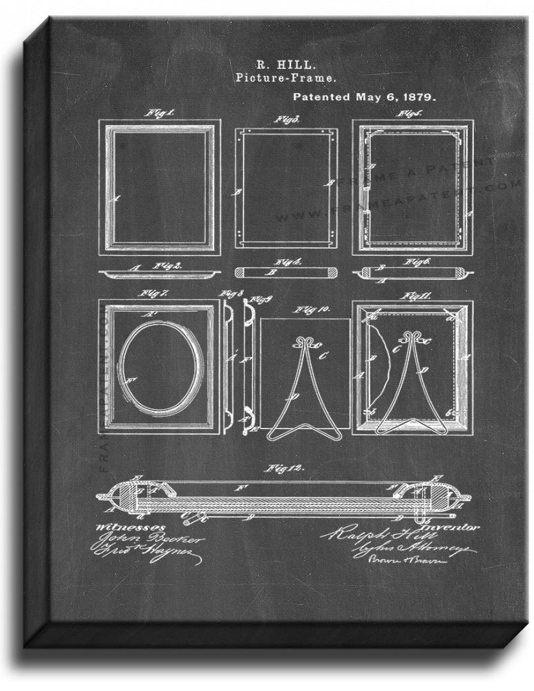 Primary image for Picture-Frames Patent Print Chalkboard on Canvas