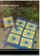 BERNAT QUICKSPUN - Projects in Knit-Crochet-Quickpoint - 1970 Book 175 - $9.00