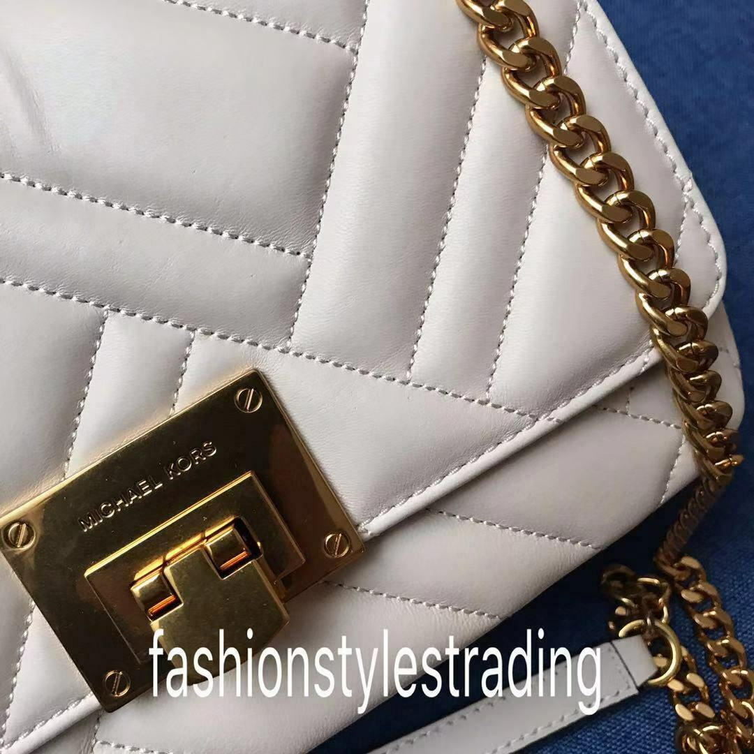NWT Michael Kors Petyon Quilted Leather Medium Shoulder Flap Bag Chain Crsbody image 15