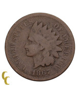 1867 Indian Head Cent Penny 1c (G) Good Condition - $64.96 CAD