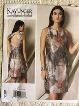 Vogue 1481 Kay Unger Open Back Sleeveless Dress Sewing Pattern Sz 6-14 Uncut - $28.95