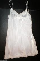 NWT $160 New Designer Natori Night Gown Chemise Cotton White Womens Sexy... - $104.00