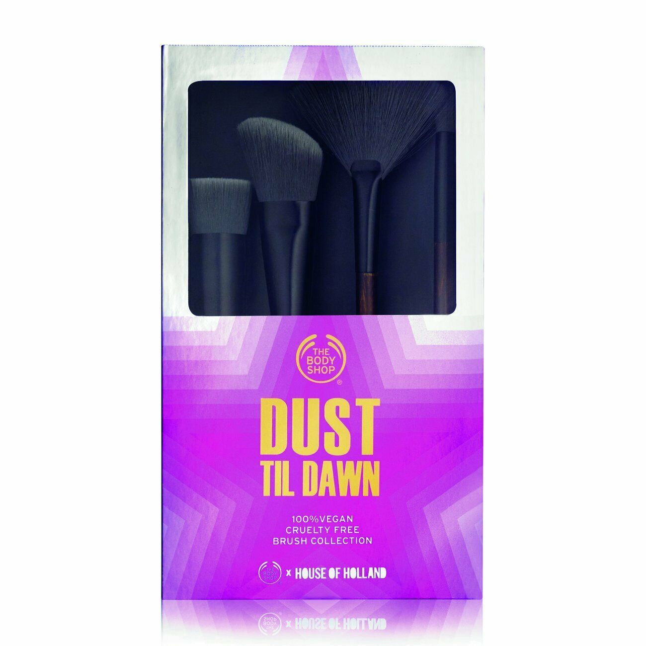 THE BODY SHOP MAKEUP BRUSH COLLECTION 4 PC CRUELTY-FREE BRUSH GIFT SET BRAND NEW - $13.08