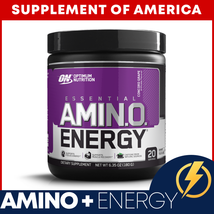 "Optimum Nutrition Amino Energy 20 Servings Grape ""Free Shipping"" - $13.75"