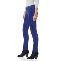 "Hal Rubenstein the ""Lucinda"" Washable Suede Pant in Blue, size 4 - $56.42"