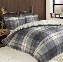 Schottenkaro blau weiss creme Gebürstete Baumwolle einzel Bettwäsche ( - $36.64