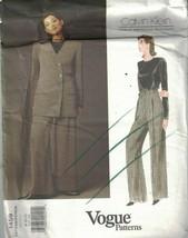 1459 UNCUT Vogue Sewing Pattern Misses Calvin Klein Blouse Jacket Pants ... - $9.98