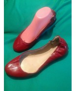 MOSSIMO SUPPLY CO 9.5M WOMEN'S RED PATENT FAUX LEATHER BALLET FLATS PLEA... - $20.19