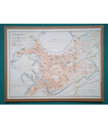"EGYPT Alexandria City Town Plan - 1911 MAP  10.5 x 14"" (27 x 36 cm) - $40.50"