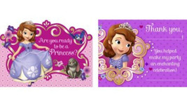 Sofia the 1st Birthday First Princess Invitations Thank you notes set - $4.99