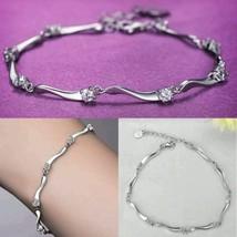 925 Sterling Silver Bracelet Charm Crystal Bamb... - $12.86