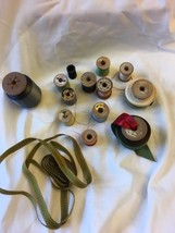 1930s-50s Vintage Wooden Sewing Thread Spools Clarks Paragon & Vintage R... - $18.99