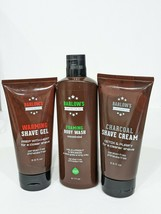 Barlow's Mens Warming Shaving Gel Charcoal Cream Foaming Body Wash Gift ... - $22.65