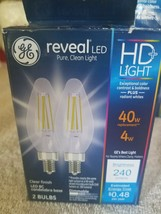 GE Reveal LED HD Light LED BC Candelabra Base 2 Bulbs - $30.26