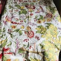 Pottery Barn Bungalow Duvet Queen 2 Standard Sham Bird Butterfly Floral ... - $139.00