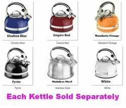 2 Qt Kettle w Comfortable Full Stainless Steel Handle, Trim Band & Remov... - $241.09