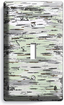 Birch Tree Bark Wood Texture Light Switch Wall 1 Gang Plates Modern Room Decor - $8.99