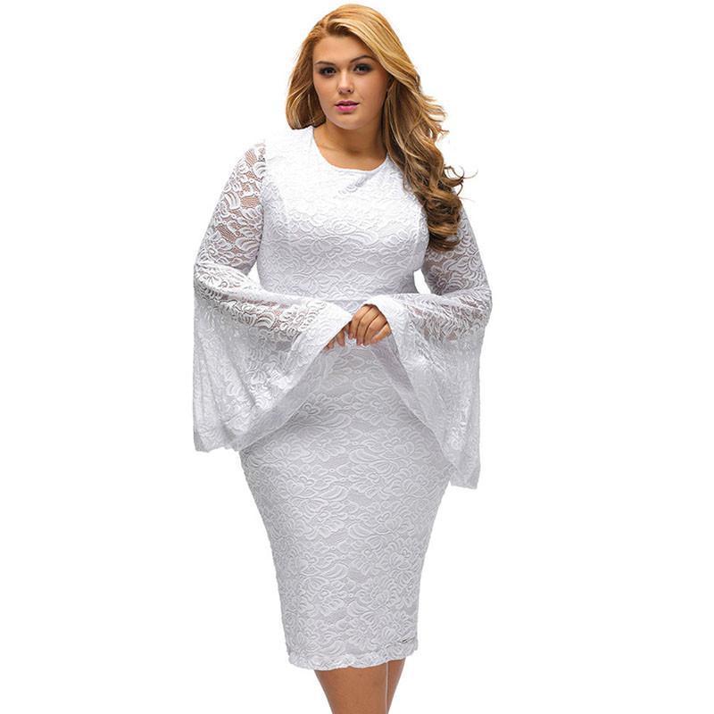 Plus Sized Bodycon lace Party Dresses at Bling Brides Bouquet Online Bridal