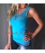 Sexy Women's Low-cut Crochet Lace Front Sleeveless Summer Tank Top Shirt... - $15.88+