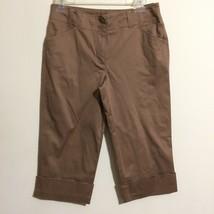 Ann Taylor Loft Ann Women's Size 2 Capri Pants Coffee Brown - $39.59