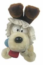 "Vintage Garfield 1983 Baby Odie 10"" Plush Stuffed Dog w/ Rattle Dakin - $35.63"