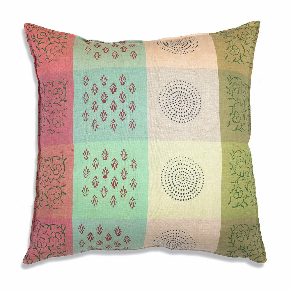 Farmhouse NADIA COTTON EURO THROW PILLOW Country Southwestern Style Sofa Cushion