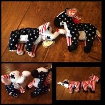 TY Beanie Baby 2000 Lefty Donkey Righty Elephant Political Democrat repu... - $56.09