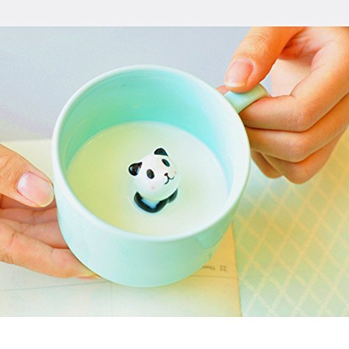 Panda 3D Morning Mug Animal Cup, Best Office Cup 8 Ounce 3D Panda Cup