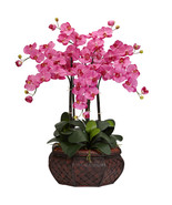 Large Phalaenopsis Silk Flower Arrangement, Nearly Natural - $143.39