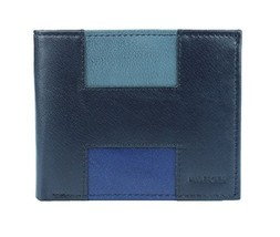 New Tommy Hilfiger Men's Leather Double Billfold Passcase Wallet & Valet (Navy)