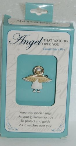 DM Merchandising Guardian Angel Silver Gold Colored Three-Dimensional