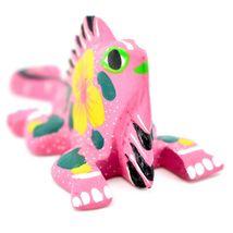Handmade Alebrijes Oaxacan Miniature Painted Folk Art Chameleon Lizard Figure image 4